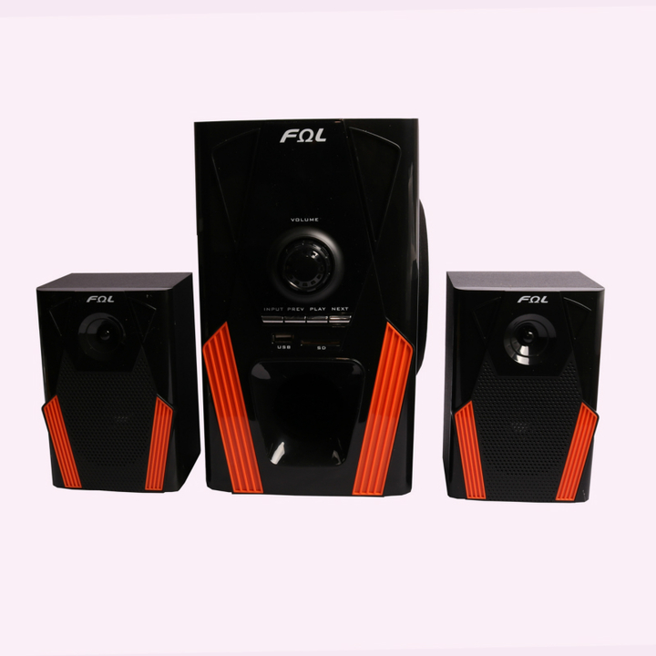 FL-2109 2.1 Channel Multimedia Home Theater Speaker System Support Remote Control black 20w fl-2109
