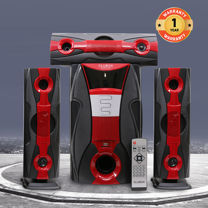 CLUBOX IC-Q3L HI-FI BT Multimedia Speaker System black&red 60w IC-Q3L
