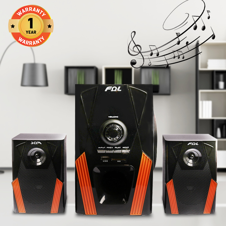 FL-2109 2.1 Channel Multimedia Home Theater Speaker System Support Remote Control black 20w fl-2109
