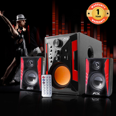 FL-2405 2.1 Channel Multimedia Home Theater Speaker System Support Remote Control black 25w 2405