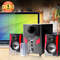 FL-2402 2.1 Channel Multimedia Home Theater Speaker System Support Remote Control black 25w 2402