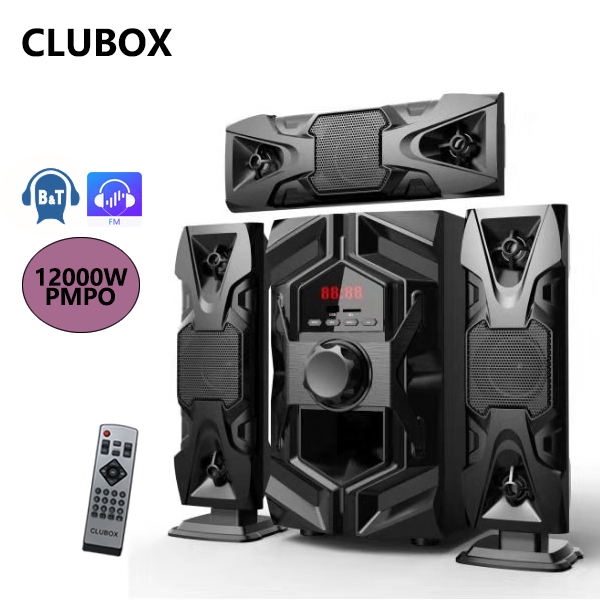 CLUBOX IC-1203L 3.1 X-Base HI-FI BT Multimedia Bluetooth Speaker System black 60w IC-1203L