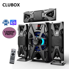 CLUBOX IC-1303 3.1 X-Base HI-FI BT Multimedia Speaker System black 60w IC-1303