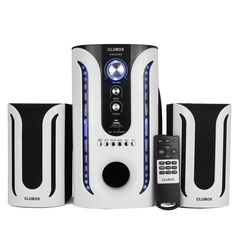 CLUBOX-602-2.1CH Multimedia Speaker Systems P.M.P.O 5000W black&white 60w clubox 602