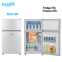 ICECOOL BCD-98 Double Door Fridge Freezer as the photos 450*475*835