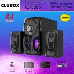 CLUBOX IC-5205 2.1 X-Base HI-FI Multimedia Bluetooth Speaker System Subwoofer black 40w IC-5205