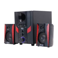 FL-2402 2.1 Channel Woofer Multimedia Home Theater Speaker System Support Remote Control black 25w 2402
