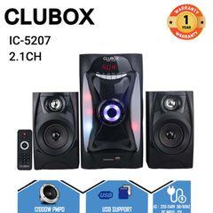 CLUBOX IC-5207 Woofer  2.1 X-Base HI-FI Multimedia Bluetooth Speaker System Subwoofer black 40w IC-5207