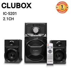 CLUBOX IC-5201 Woofer HI-FI BT Multimedia Speaker System black 60w IC-5201