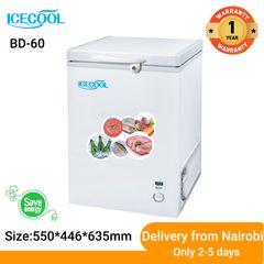 ICECOOL BD-60 Chest Freezer 60L (Low noise, Low energy consumption) white 550*446*635