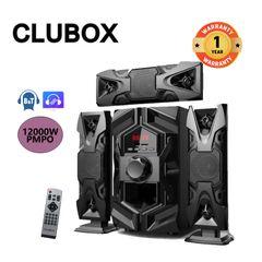CLUBOX IC-1203L 3.1CH X-Bass HI-FI BT Multimedia 3.1 Bluetooth Speaker System FM Radio black 60w IC-1203L