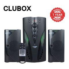 CLUBOX 2.1CH XBASS Multimedi Media Woofer Home Audio System Subwoofer Speaker System CL-502 Black 5000W CL-502