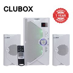 CLUBOX 2.1CH Home Theatre System Woofer Speaker Systems Subwoofer BT USB FM SD CL-501 White 5000W CL-501