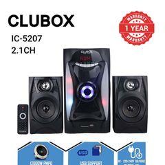 CLUBOX IC-5207 Woofer 2.1CH X-Base HI-FI Bluetooth Speaker System Subwoofer black 40w IC-5207