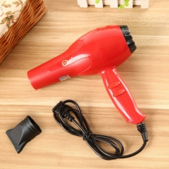 Professional Hair Blow Dryer 1800W Heat Blower Dryer Hot Cold Wind Salon USA Plug Red One Size
