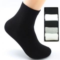 Men Sock 10 pieces =5 Pairs /lot Package Male Summer Light Socks Cotton Short Sock White One Size One Size