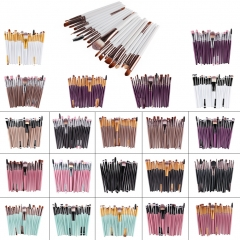 20pcs Eye Makeup Brushes Set Eyeshadow Blending Brush Powder Foundation Cosmetic Tool white