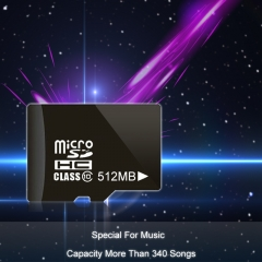 High speed Micro SD Card TF Memory Cards Special For Music 340Songs Capacity black high speed 512mb sd card