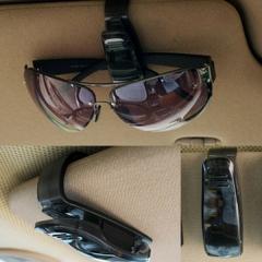 Sun Visor Sunglasses Eye Glasses Card Pen Holder Clip Car Vehicle Accessory Black 2.5cm*7cm