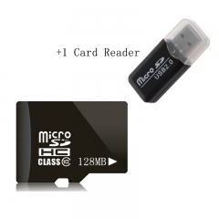 2 In 1 Memory Card Reader And 128MB High speed SD Card TF Memory Card random unlimited 128mb sd card