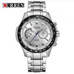 CURREN 2018 Quartz Vogue Business Men's Watches Waterproof Wristwatch style 1 as picture