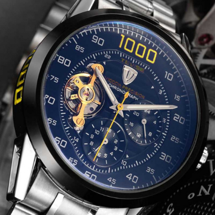 Tevise 2018 Fashion Automatic Watch Self Wind Clock Male Business Waterproof Mechanical Watches style 3 as picture