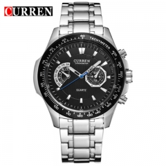 CURREN 2018 Quartz Vogue Business Men's Watches Waterproof Wristwatch style 2 as picture