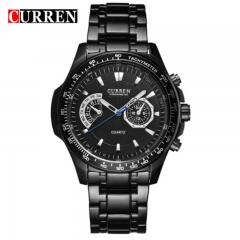 CURREN 2018 Quartz Vogue Business Men's Watches Waterproof Wristwatch style 4 as picture