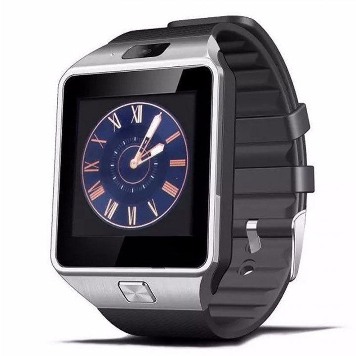 New Smart Watch Camera Bluetooth WristWatch Smartwatch For Android Phones Support Multi languages silver as picture