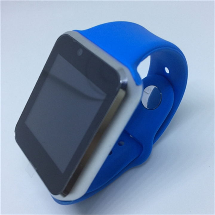 Bluetooth Smart Watch Sport Pedometer With SIM Camera Smartwatch For Android Smartphone WristWatch blue as picture