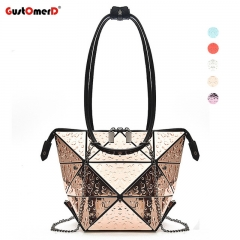 GustOmerD Brand Fashion Casual Women Shoulder Bags Colorful Handbag Pu Leather women Hangbags Gold 34cm X 1cm X 34cm