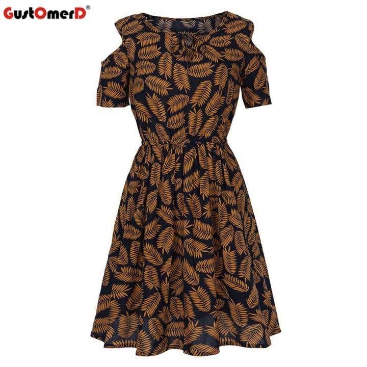GustOMerD Dress Chiffon Eliacher Casual Women Clothing Chic Evening Party  shift Dresses Vestidos l print 3 97ad85c1f02e