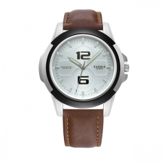 YAZOLE Men Luminous Watches Waterproof Sport Watch Men's Watch Clock Saat Relogio Masculino white brown as picture