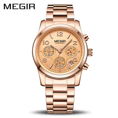MEGIR Luxury Quartz Watches Relogio Feminino Sport Ladies Lovers Watch Clock Chronograph Wristwatch rose as picture