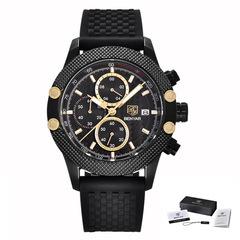 BENYAR Sport Chronograph Fashion Watches Men Mesh & Rubber Band Waterproof Luxury Brand Quartz Watch 1 as picture