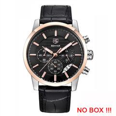 BENYAR Fashion Chronograph Sport Mens Watches Top Brand Luxury Business Quartz Watch Clock l rose gold black as picture
