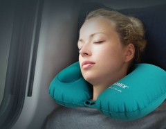 FH Brand  Three seconds to use, Avoid blowing  travel neck pillow  be inflated  foldable light &thin Green