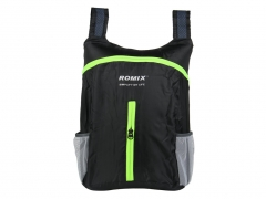ROMIX Folding portable backpack rugged compact and easy to add more fun for your life 4color black one size