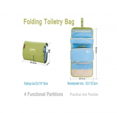 FH Brand ROMIX FOLEDING TOILETRY BAG BLUE ONE SIZE