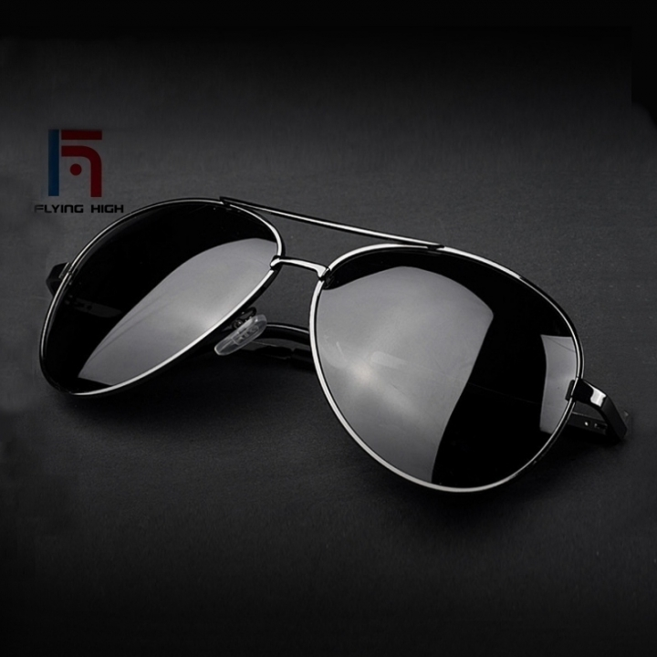 FH Fashion  Polarizing Metal  Sunglasses High-grade Resilience Leg Men and Women Universal Glasses ONE COLOR ONE SIZE