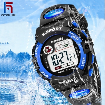 FH Brand Hot style children's electronic watch sports waterproof student electronic watch. blue