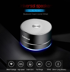 FH Brand Universal  Wireless Bluetooth Car Bass  TF Speaker Subwoofer Cool Mini - computer  Speaker Black 1000mAh