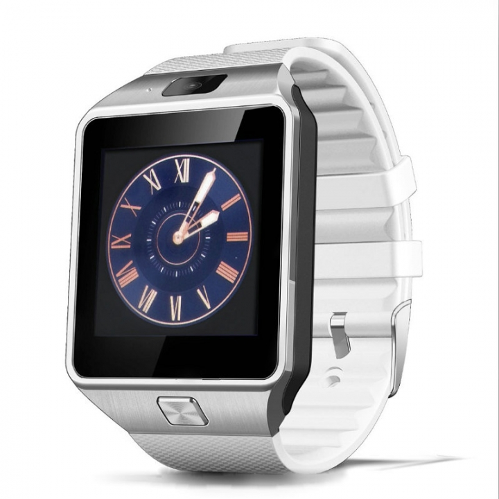 FH Brand Touch Screen Smart Bluetooth Watches infinix MP3+ Music + Call + TF+ Photo. White DZ09
