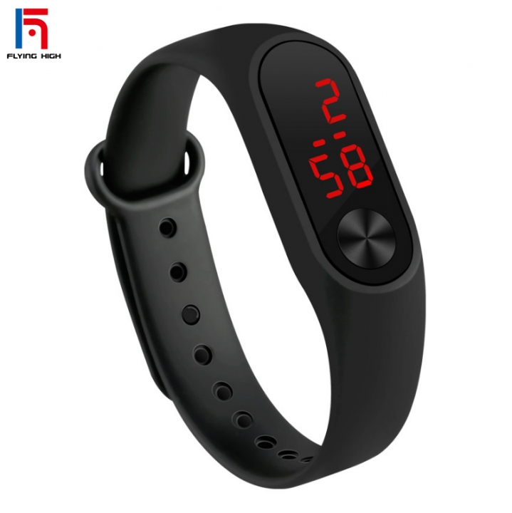 FH Brand 2019Hot Sell LED Smart Watch  Men and Women Universal Smart Bracelet Watch black one size