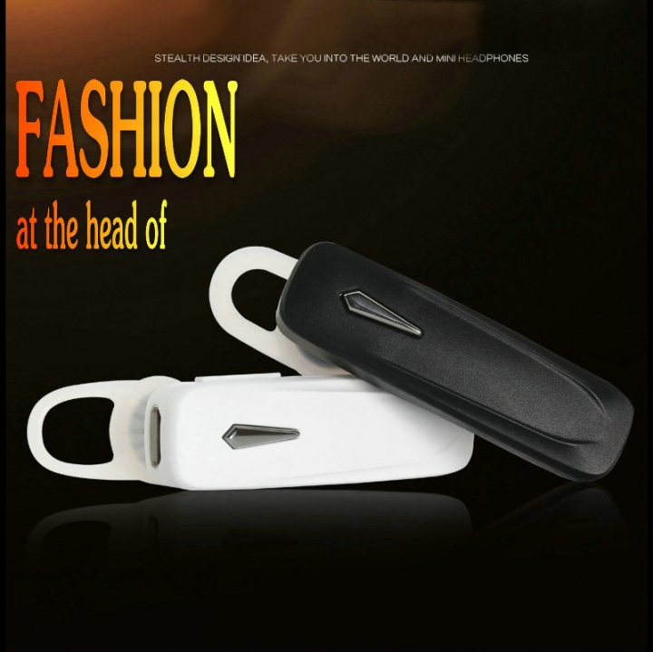 FH Brand Bluetooth Headset V4.1Earphone Voice Reminder Noise Cancelling Mic Compatible Android iOS black