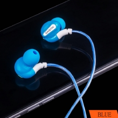 FH Brand Universal  In - ear Motion Headphones With Microphone Cord Blue