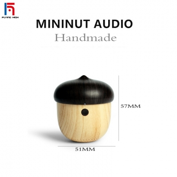 FH Brand MINI Wireless Portable Bluetooth speaker Manual Wooden Subwoofer Stereo player brown one size