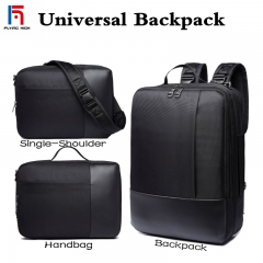 FH Brand Men's  Bag Briefcase,All-purpose Business, Leisure .Single Shoulder /Shoulders/Portable Bag Black 35L