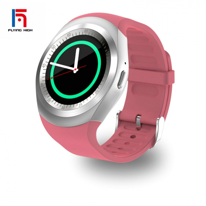 FH Brand HOT SALE Touch Screen Bluetooth Music Smart  Watches TF  Smart Phone Pink Android4.4