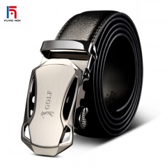 FH BrandGolf Men's Automatic Cowhide Leather Belt Suitable for  Business Casual Wear. High Quality Black 125mm